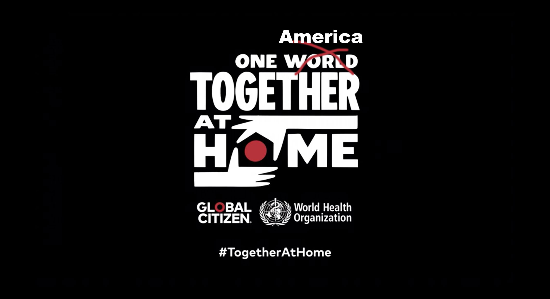 One America : Together At Home – not the world